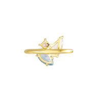 Skylar Gold Cocktail Ring - Wanderlust + Co