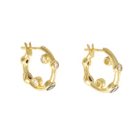 Skylar Gold Huggies  Earrings - Wanderlust + Co