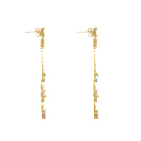 Kaia Stardust Gold Earrings - Wanderlust + Co