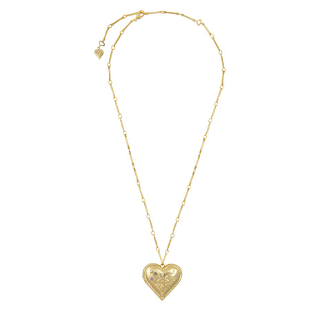 Harlow Gold Locket Necklace
