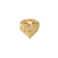 Harlow Locket Gold Ring - Wanderlust + Co