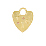 Heart Lock Gold Charm