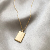 New Beginnings Gold Sterling Silver Necklace