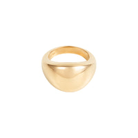 Dome Gold Sterling Silver Ring