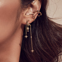 L'etoile Gold Earrings - Wanderlust + Co