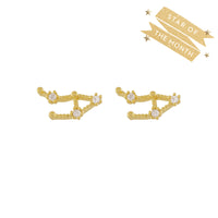 Libra Zodiac Gold Earrings - Wanderlust + Co
