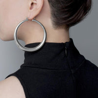 Cora Hoop Silver Earrings