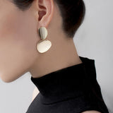 Miro Disc Gold Earrings