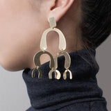 Spectrum Chandelier Gold Earrings