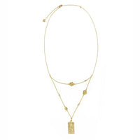 Multi Rosa Gold Necklace