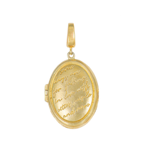 Mantra Locket Gold Charm - Wanderlust + Co
