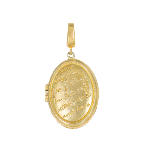 Mantra Locket Gold Charm