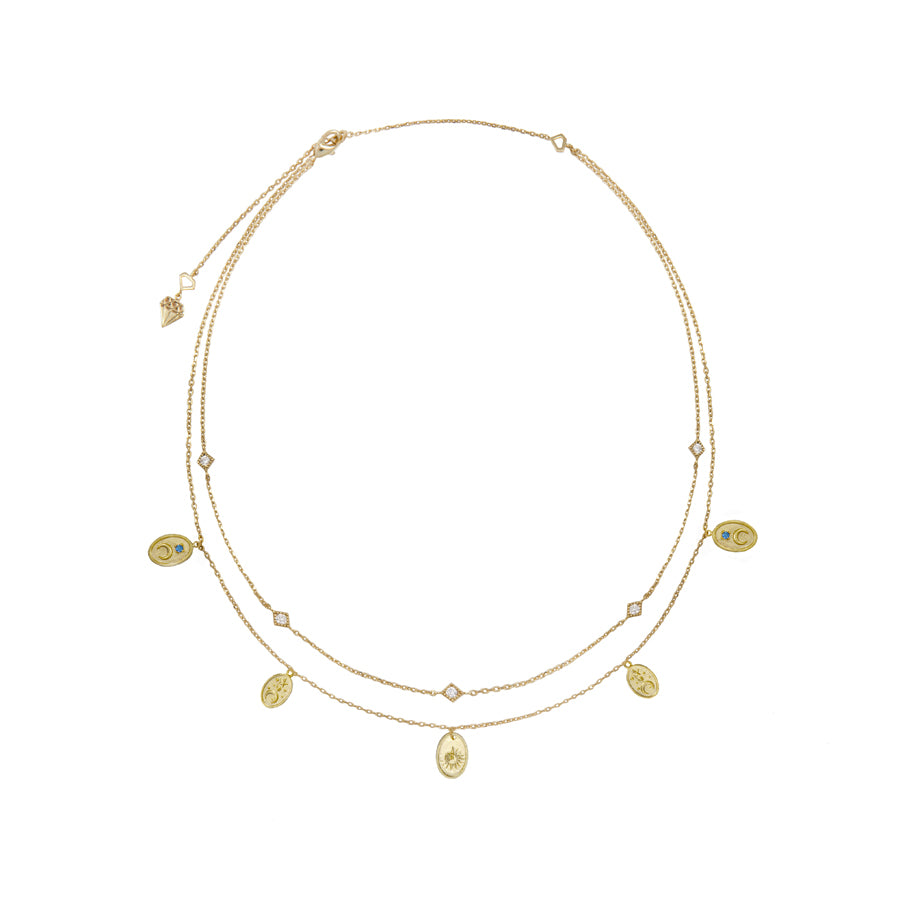 Reverie Gold Charms Necklace