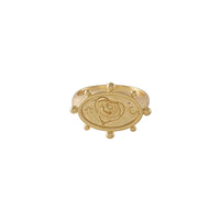 Rhea Gold Signet Ring - Wanderlust + Co