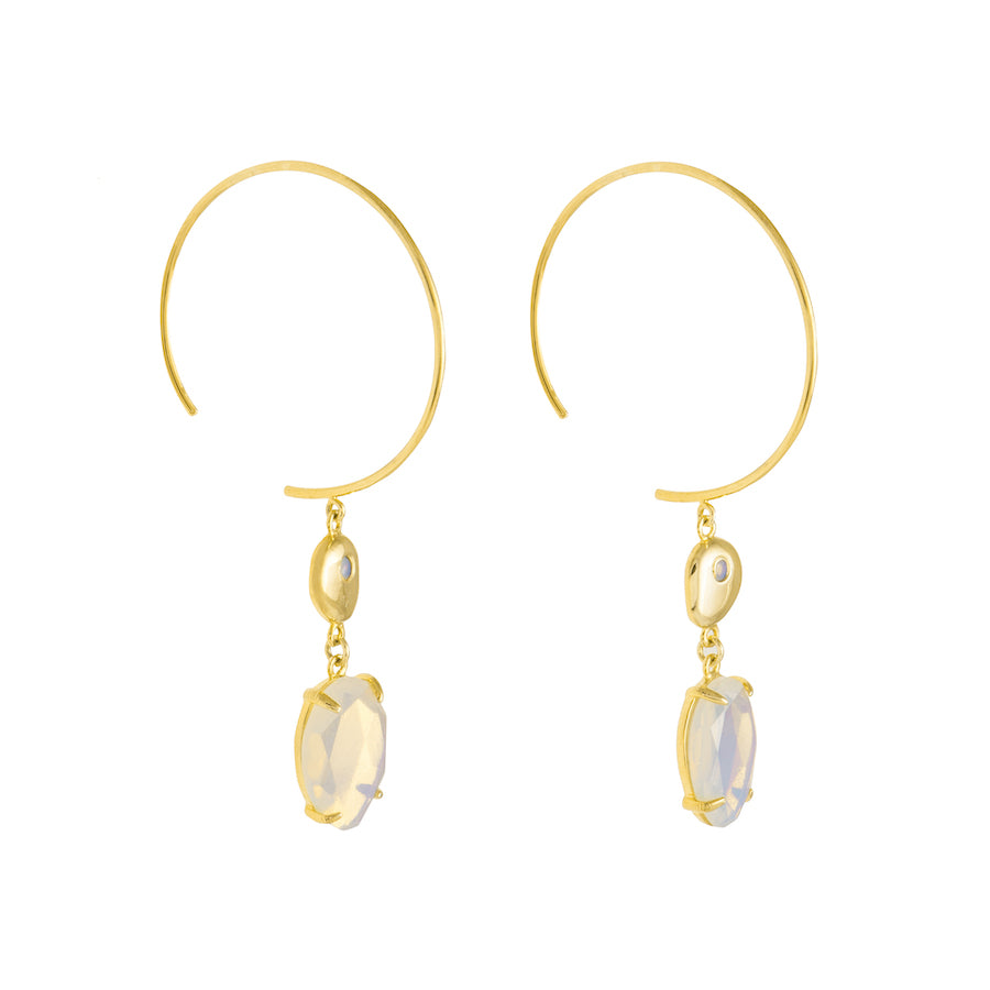 Seek for Light Gold Earrings