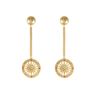 Solis Gold Drop Earrings - Wanderlust + Co