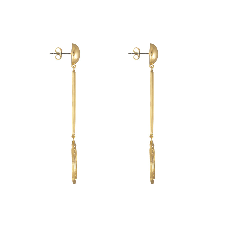 Solis Gold Drop Earrings