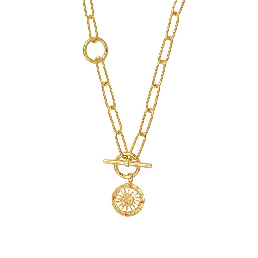 Solis Gold Toggle Necklace