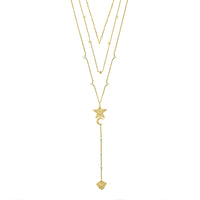 Stella Gold Layered Necklace - Wanderlust + Co