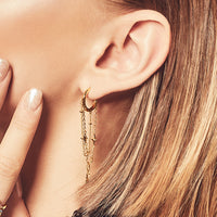 Zyia Cosmic Gold Earrings - Wanderlust + Co