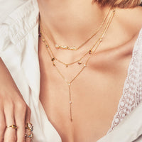 Zyia Gold Lariat  Necklace - Wanderlust + Co