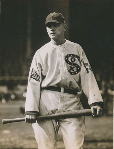 The first team to put an American flag on its uniform was the Chicago White  Sox in 1917 in honor of our troops during World War I. After the events of  9 11 7b465f13239