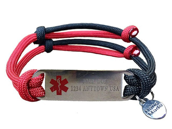 "Customizable ""Alert Your Medicool"" Bracelet - Two Lines"