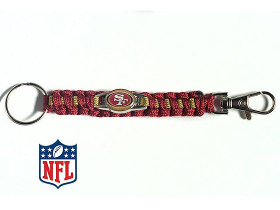 Officially Licensed San Francisco 49ers NFL Paracord Keychain