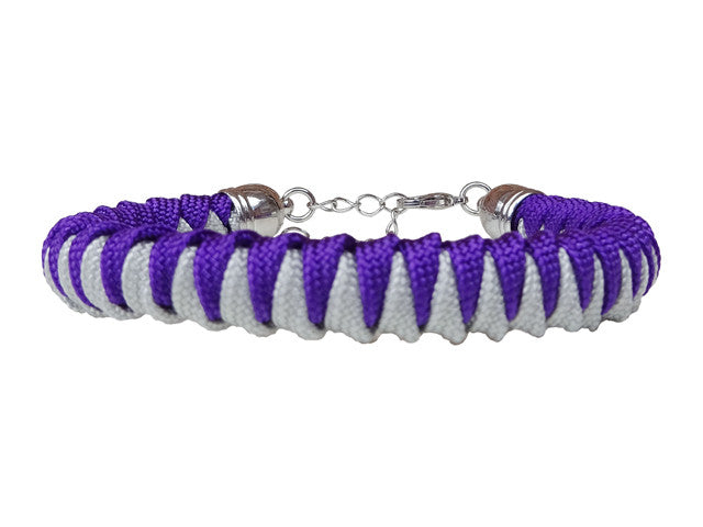 Acid Purple & Silver Fanatical Lady Luck Paracord Bracelet