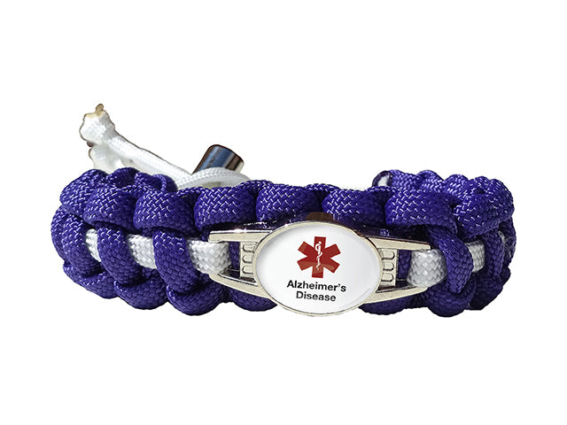 Medical ID Alzheimer's Disease Paracord Bracelet