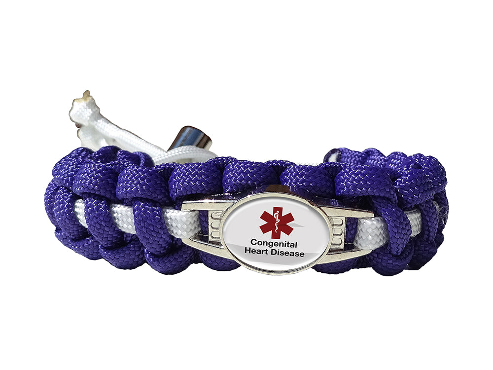 Medical ID Congenital Heart Disease Paracord Bracelet
