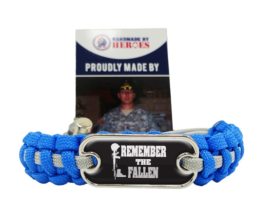Remember The Fallen Dog Tag Paracord Bracelet