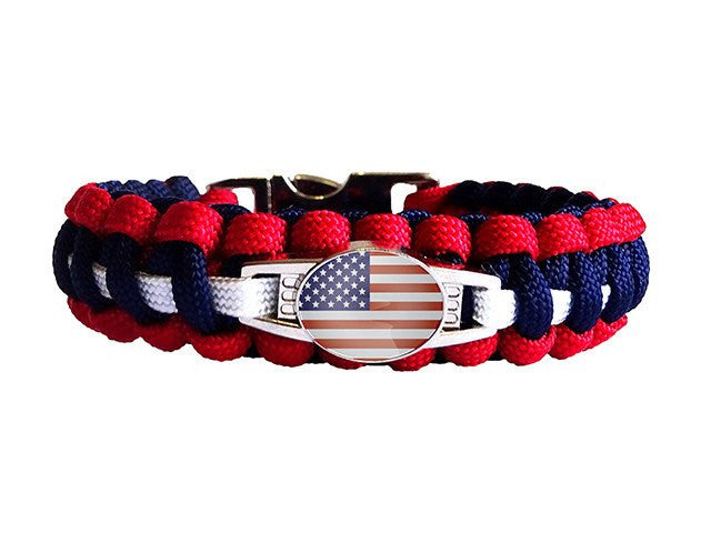 Patriotic Paracord Bracelet - Limited Stock Sale
