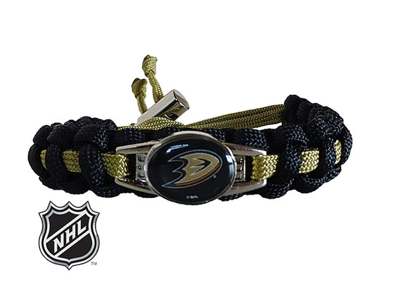 Officially Licensed NHL Anaheim Ducks Paracord Bracelet