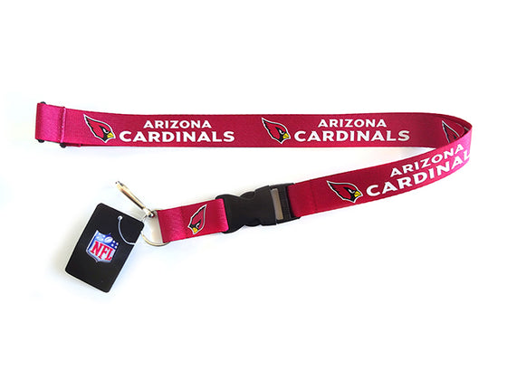 Officially Licensed NFL Arizona Cardinals Lanyard with Paracord Badge Reel Attachment