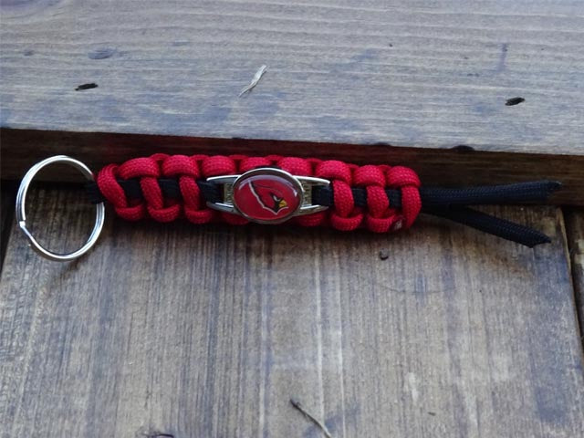 Officially Licensed Arizona Cardinals NFL Paracord Mini Keychain