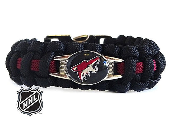 Officially Licensed NHL Arizona Coyotes Paracord Bracelet