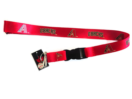 Officially Licensed MLB Arizona Diamondbacks Lanyard with Paracord Badge Reel Attachment
