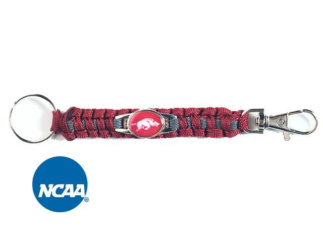 Officially Licensed Arkansas Razorbacks Paracord Keychain