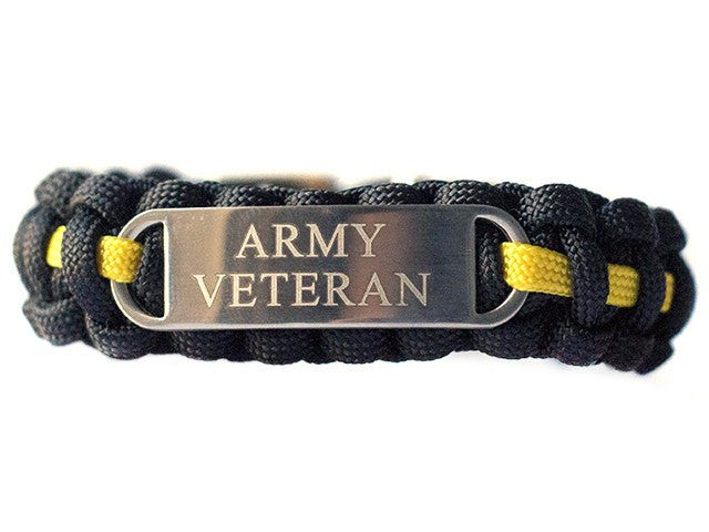 Engraved U.S. Army Veteran Paracord Bracelet - Limited Stock Sale