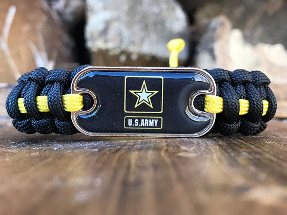US Army Dog Tag Paracord Bracelet