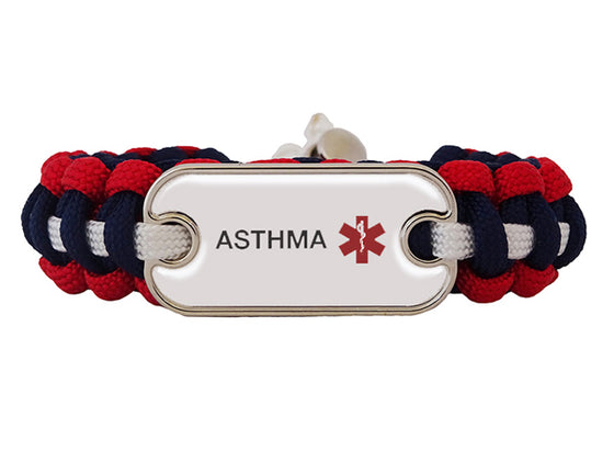 Asthma Dog Tag Medical ID Bracelet