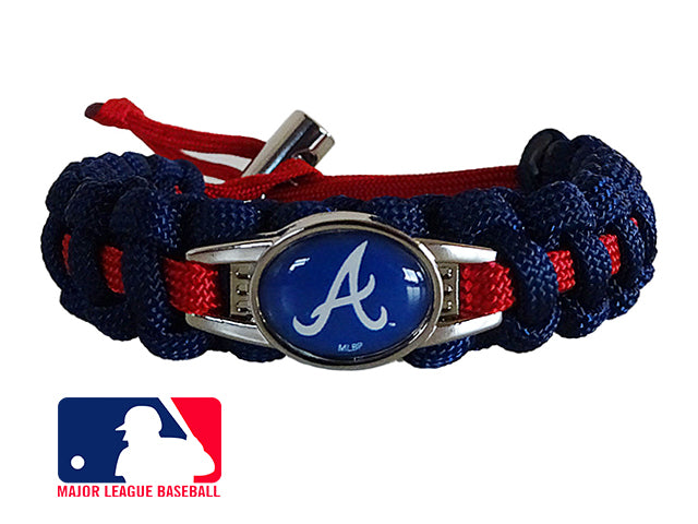 Officially Licensed MLB Atlanta Braves Paracord Bracelet