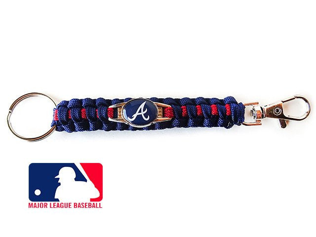 Offically Licensed MLB Atlanta Braves Paracord Keychain