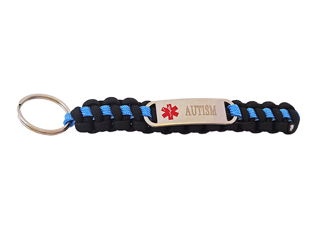 Autism Medical ID Keyfob with Engraved Tag