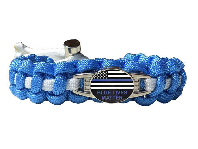 Blue Lives Matter Paracord Bracelet