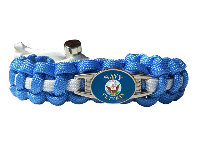 Us Navy Veteran Paracord Bracelet Handmade By Us
