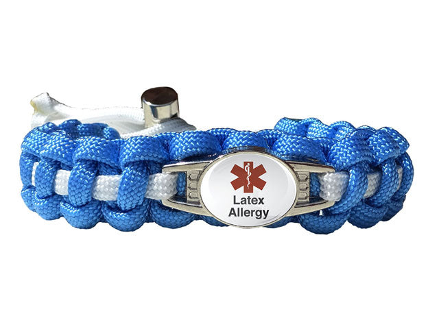 Medical ID Latex Allergy Paracord Bracelet