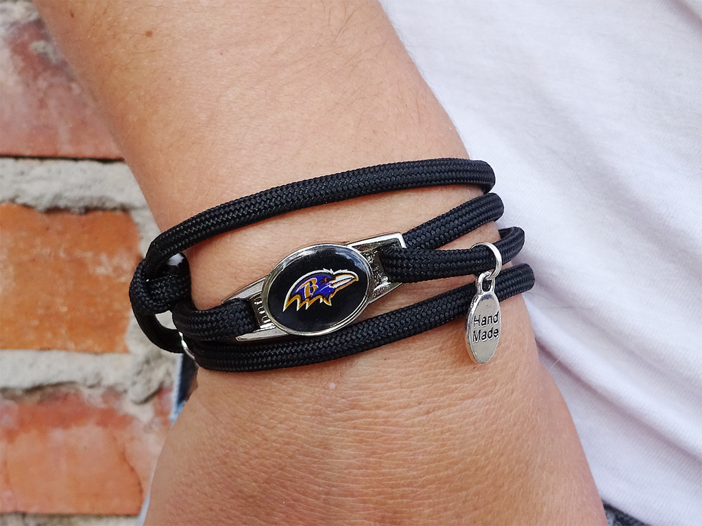 Baltimore Ravens Officially Licensed Designer Wrap Bracelet