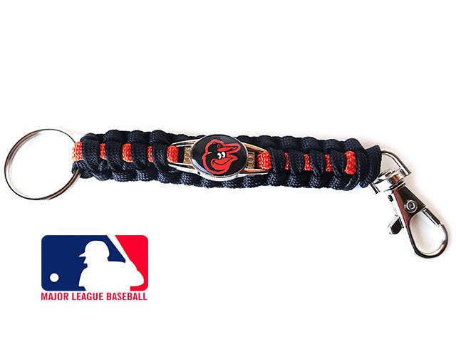Officially Licensed MLB Baltimore Orioles Paracord Keychain